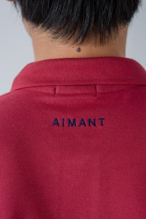 AIMANT刺繡ポロシャツ