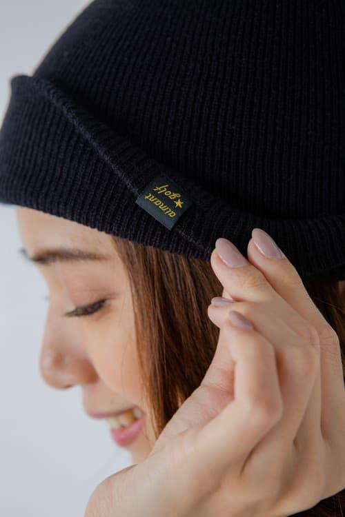 ネームタグ付きニット帽