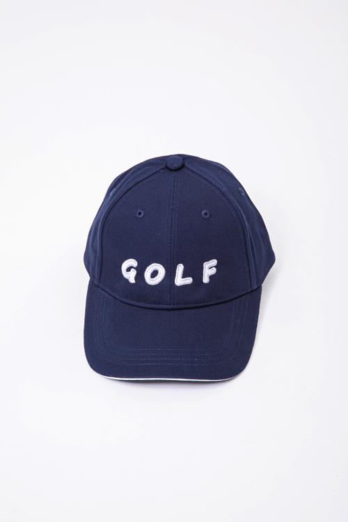 「GOLF」刺繡ツイルキャップ