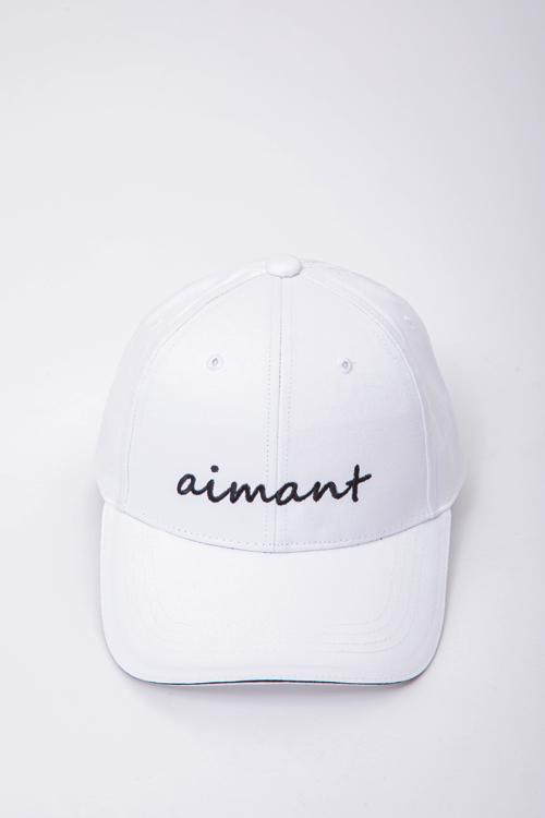 「aimant」刺繡ツイルキャップ