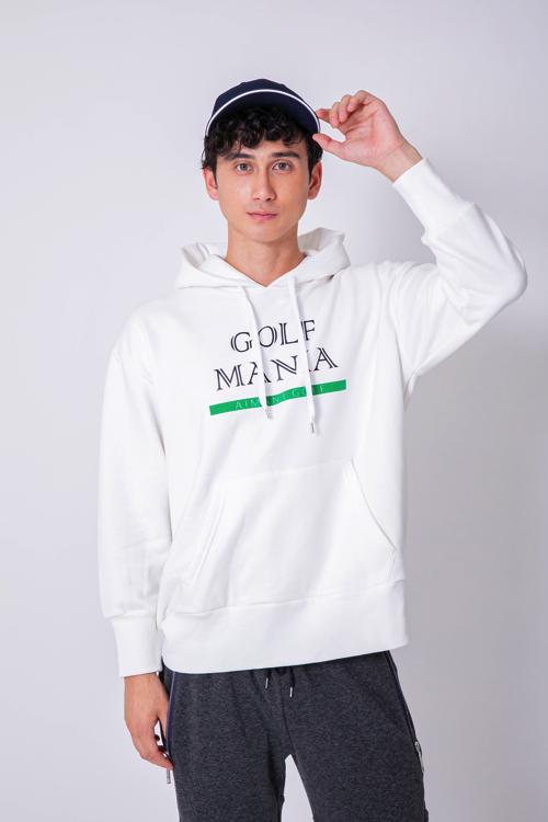 「GOLF MANIA」ロゴ裏毛パーカー(MEN)