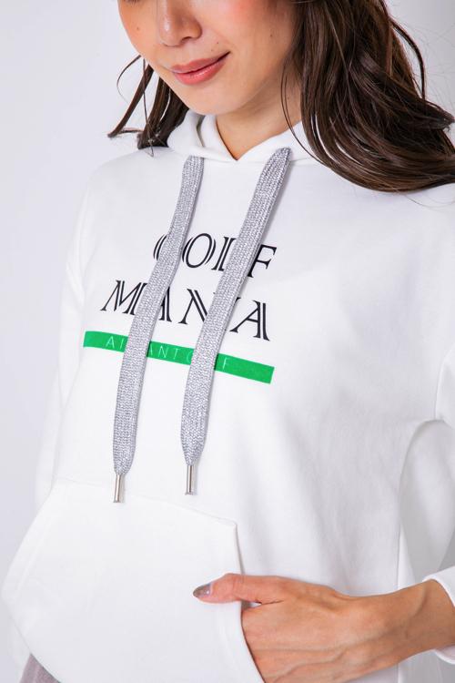 「GOLF MANIA」ロゴ裏毛パーカー(WOMEN)