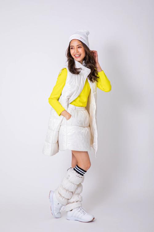 カモフラ柄中綿スカート