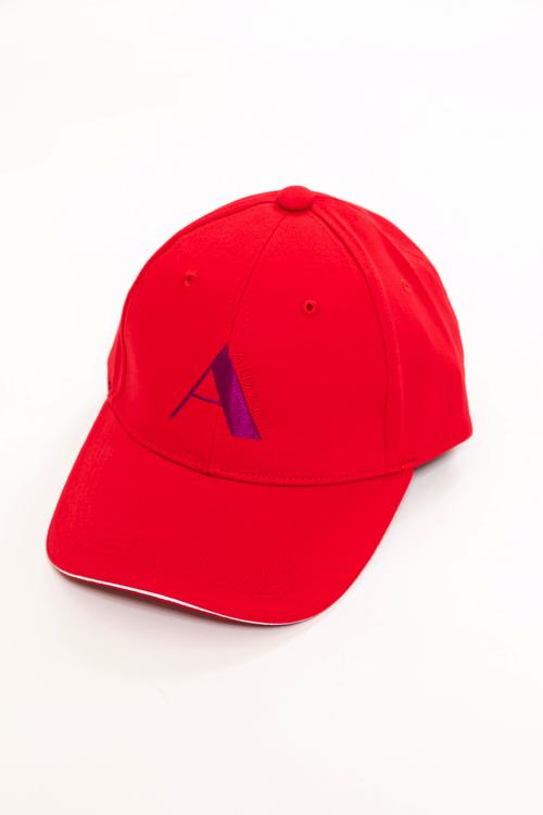 「A」刺繡ツイルキャップ