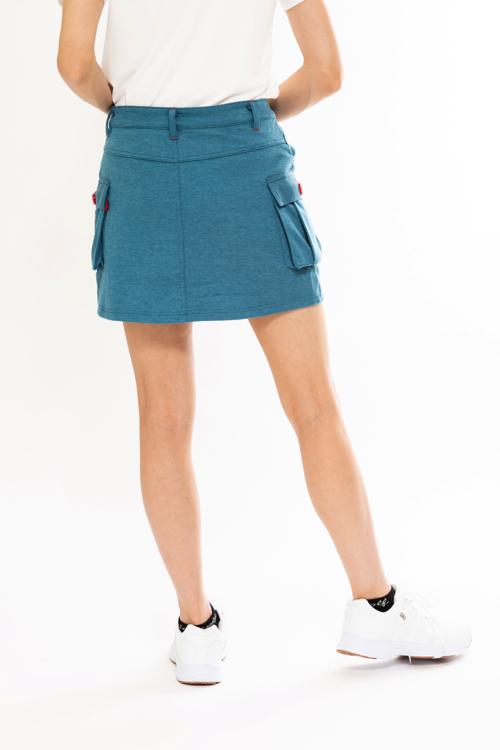 デニムライクカーゴスカート
