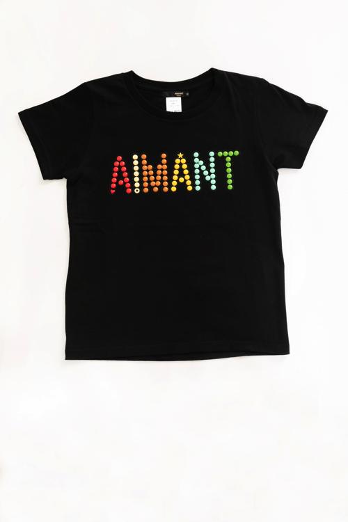 AIMANTマルチカラーロゴTシャツ(WOMEN)