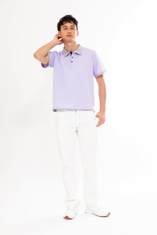 襟配色ポロシャツ(MEN)