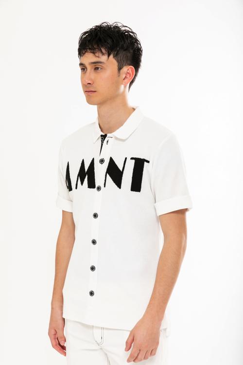 サガラ刺繍ワッフルポロシャツ(MEN)