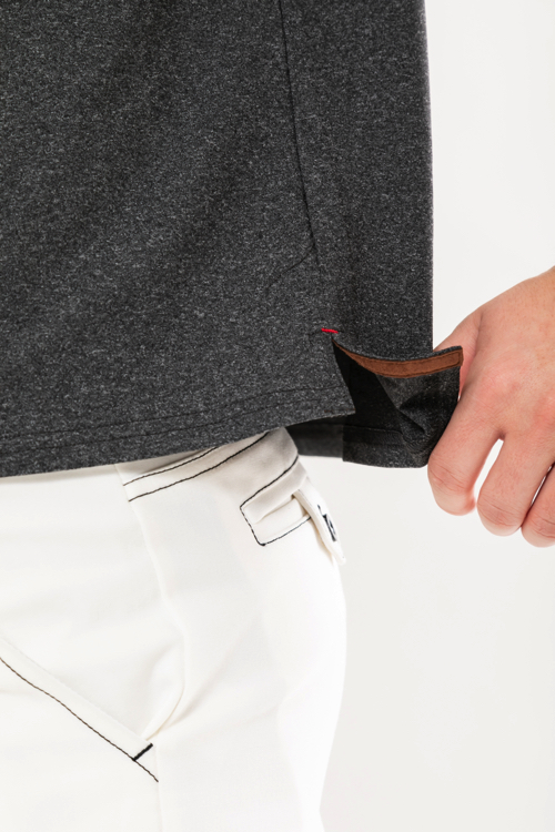 Aロゴストーン付きニットポロシャツ(MEN)