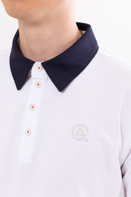COOLMAX®カノコシルケット配色ポロシャツ(MEN)