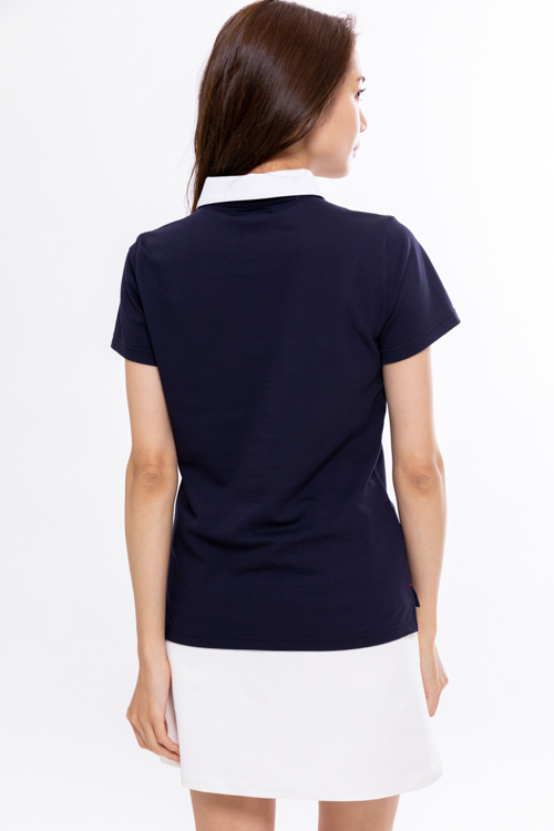 COOLMAX®カノコシルケット配色ポロシャツ(WOMEN)