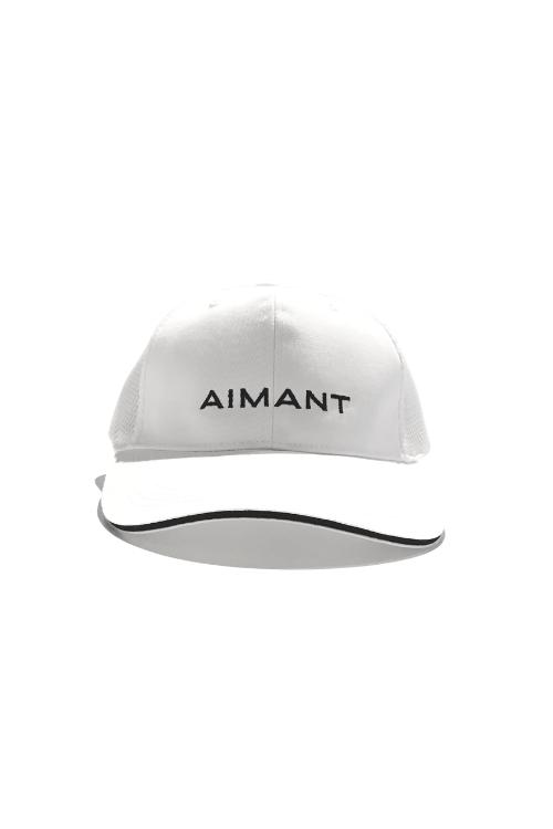 「AIMANT」刺繍ツイル×メッシュキャップ(UNISEX)