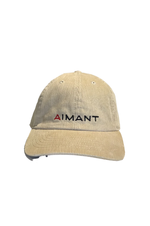 「AIMANT」ロゴ刺繍コーデュロイキャップ(UNISEX)