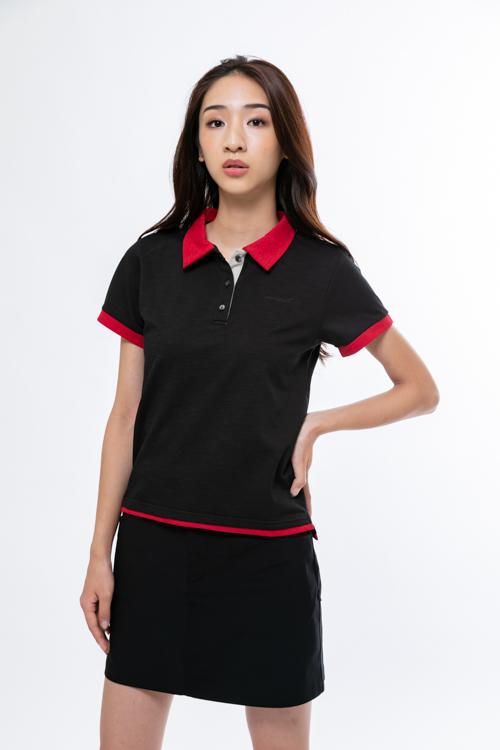 襟配色ポロシャツ(WOMEN)