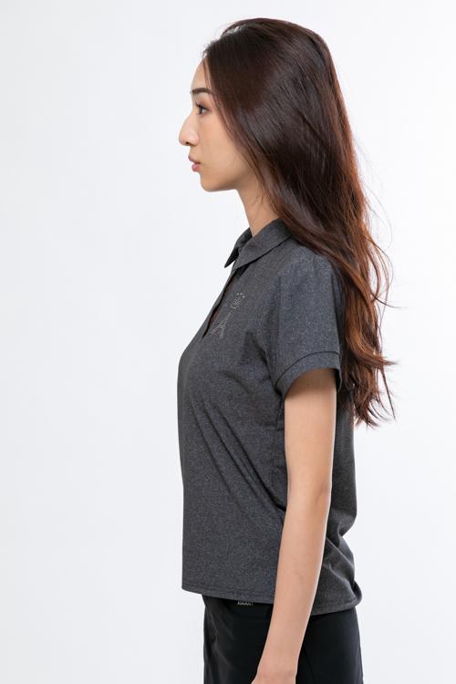 Aロゴストーン付きポロシャツ(WOMEN)