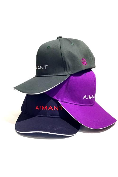 「AIMANT」ロゴ刺繍クラシックツイルキャップ(UNISEX)