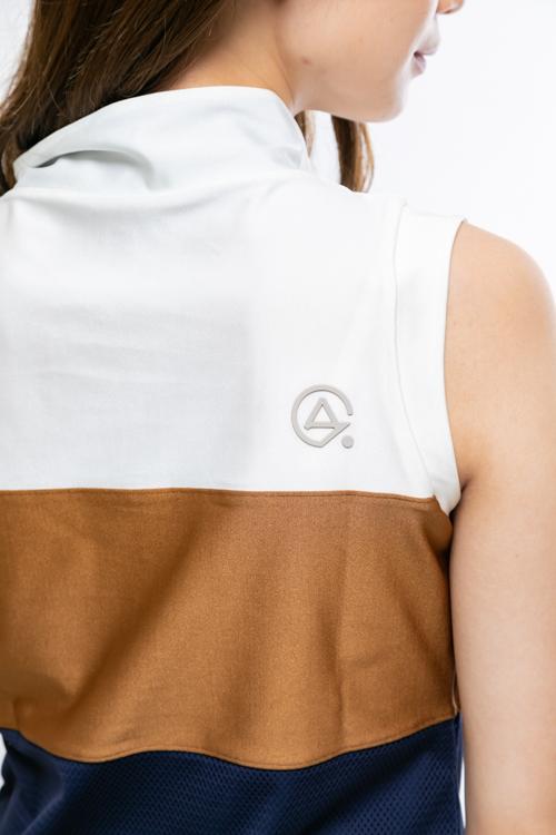 トリコロールノースリーブポロシャツ